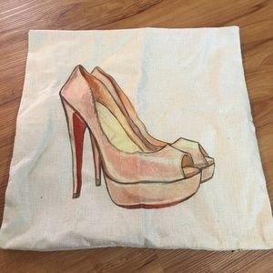 Other - Louboutin red bottoms pillow